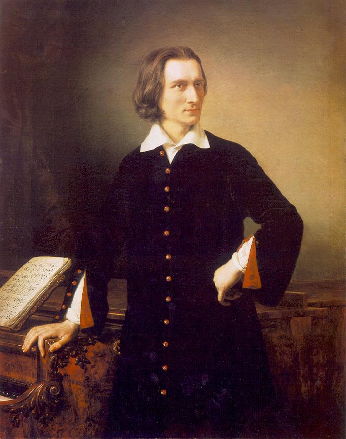Barabás Miklós (1810-1898) - Liszt Ferenc portréja - Magyar Nemzeti Múzeum - Budapest